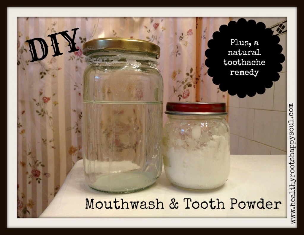mouthwash and toothpowder