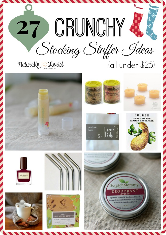 I'm tired of worthless stocking stuffer gifts! You too? Here are 27 crunchy stocking stuffer ideas that people actually want to receive!