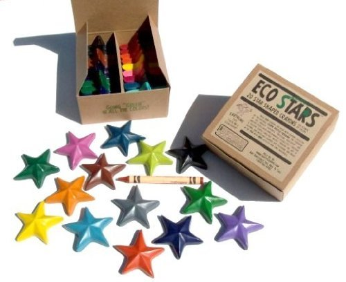 Eco star crayons made from recycled materials and CAN be recycled when done with them
