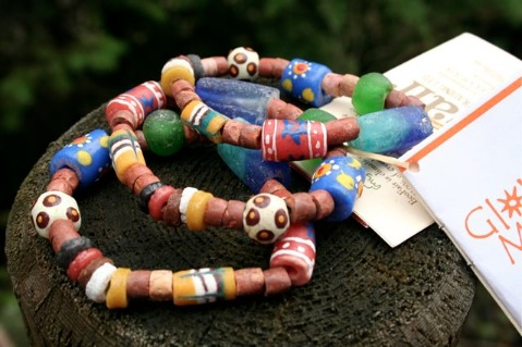 Handmade eco-bracelet would be a great stocking stuffer for a little girl