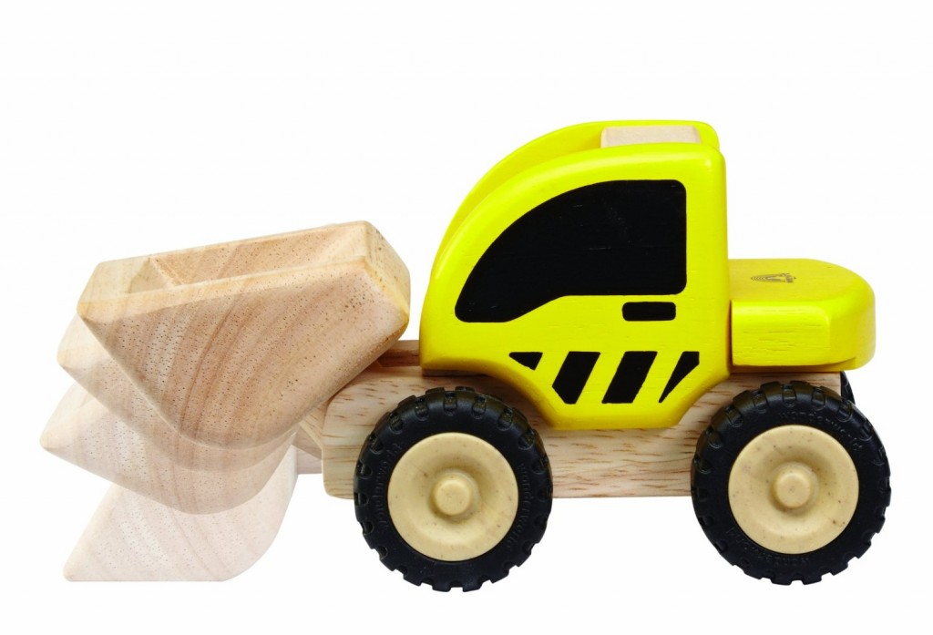 Mini loader made from sustainable rubberwood trees! Great stocking stuffer!