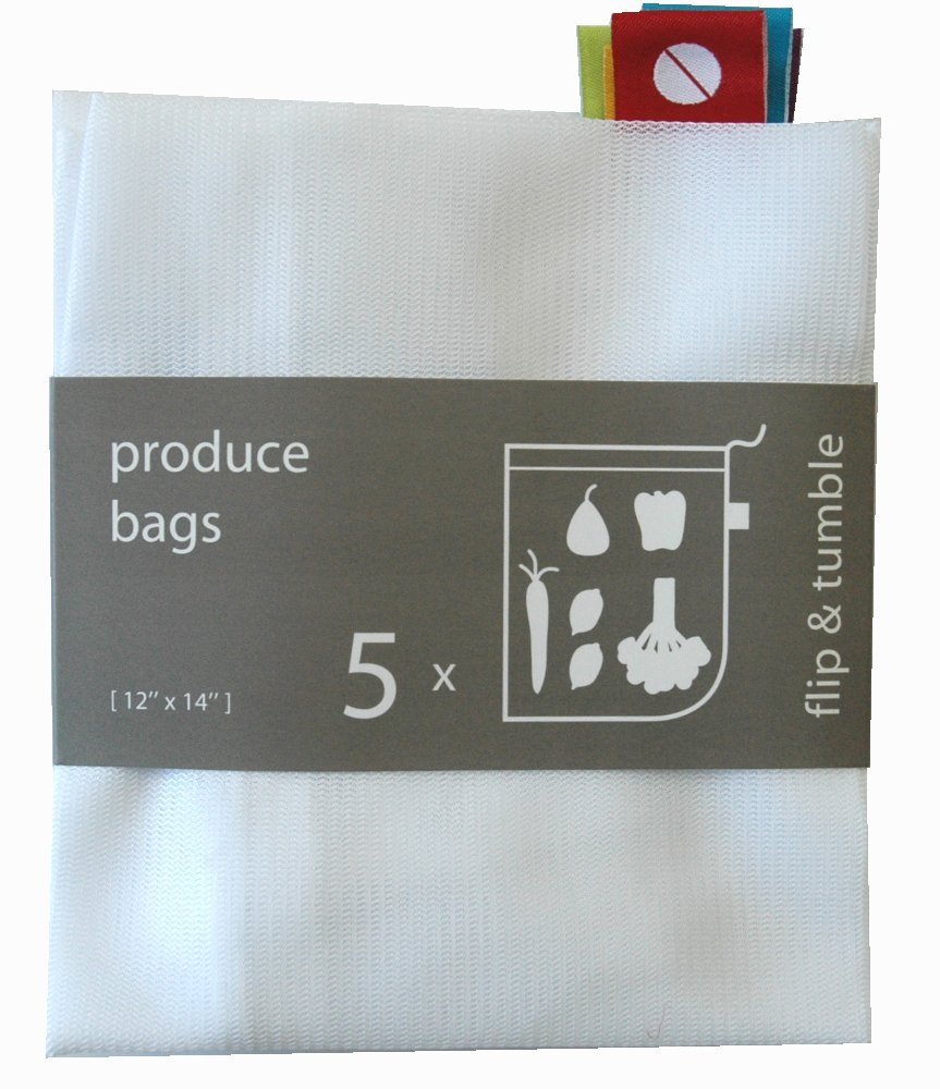 Eco-friendly and green, reusable produce bags rock! (Great for stocking stuffers!)