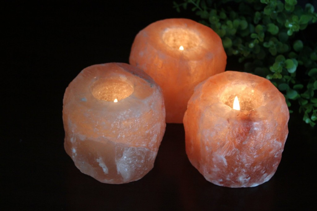 Himalayan crystal tealight holders help purify the air! They also make perfect stocking stuffers!