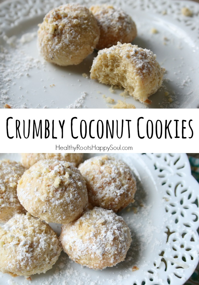 Crumbly coconut cookies