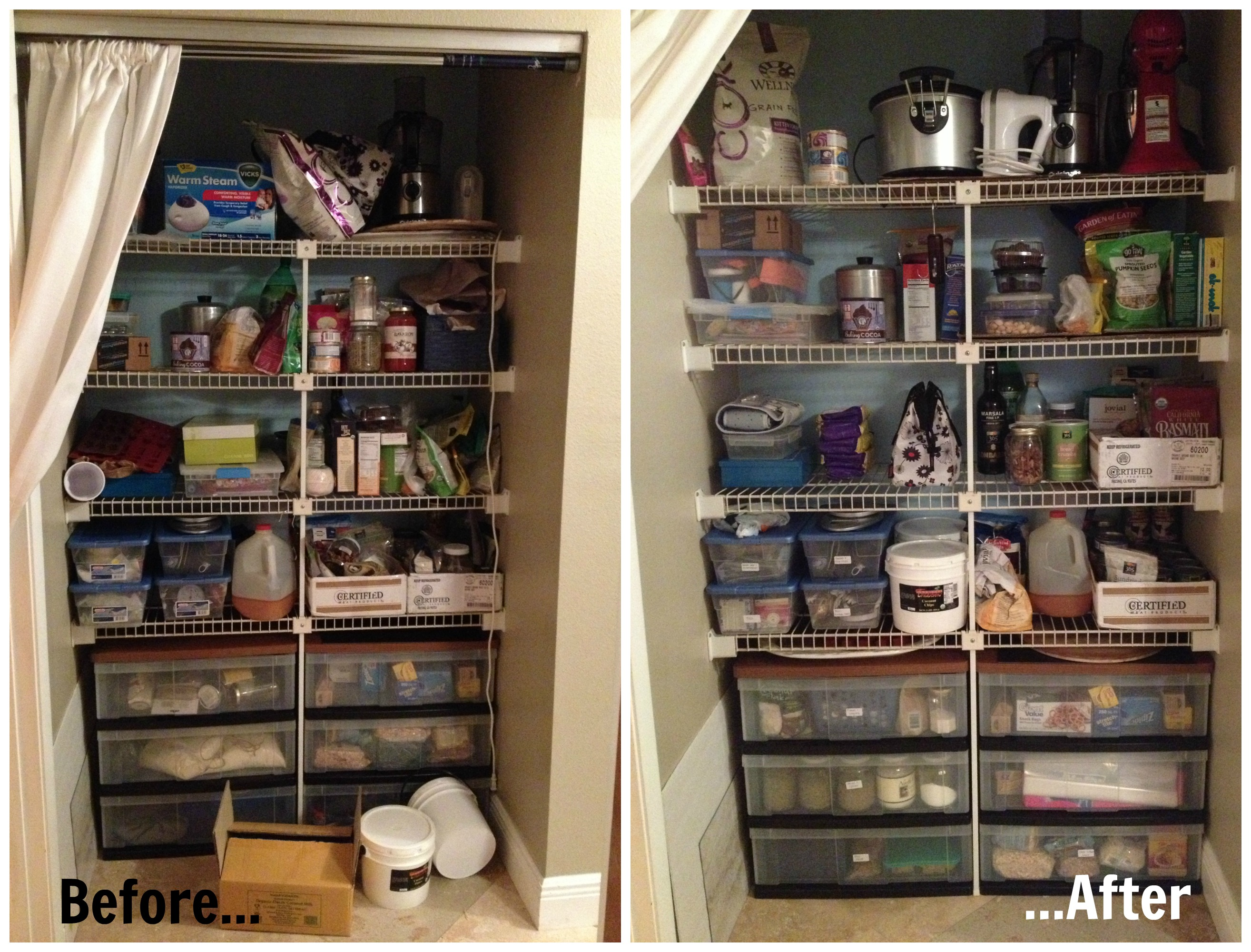 naturally loriel how i organized my food pantry naturally loriel. Black Bedroom Furniture Sets. Home Design Ideas