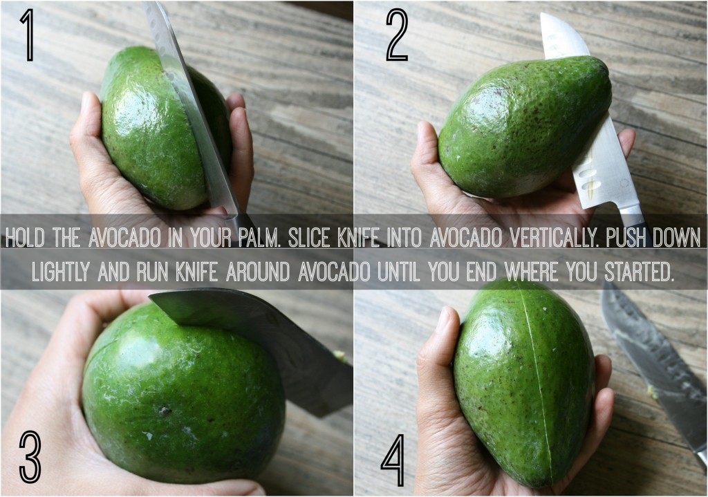 Hold avocado in your palm