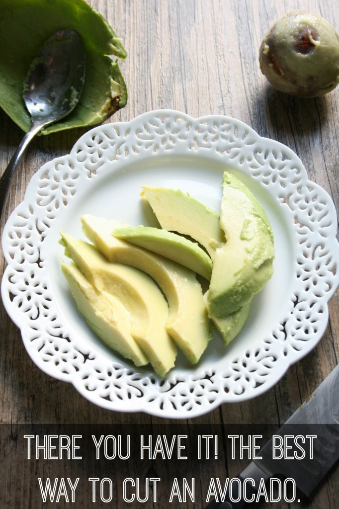 The best way to cut an avocado -- you had no idea it was this easy to cut an avocado and still make it look pretty.