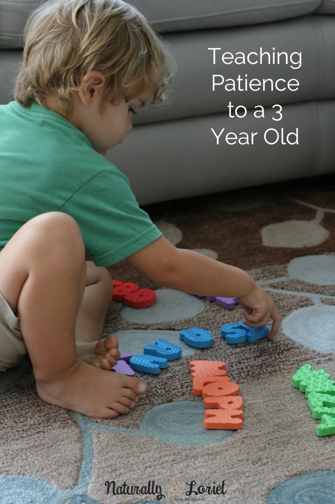 A simple trick for teaching patience to a 3 year old