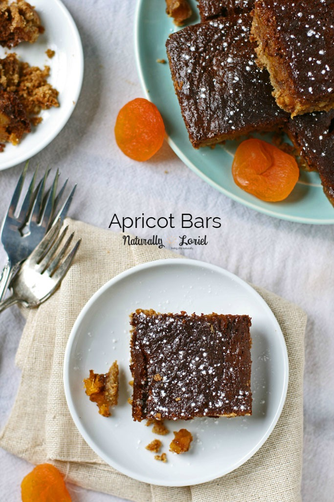 These apricot bars are chewy and gooey; easy to make and delicious. They can either be shared or hoarded. No judgement either way.