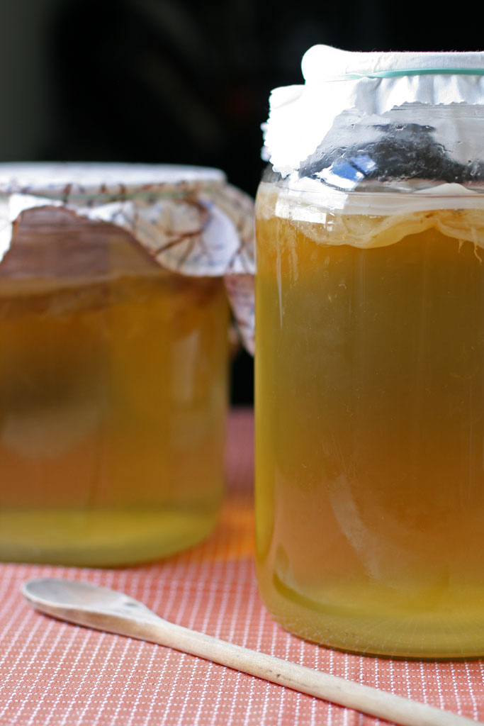 "Booch. Kombucha. Whatever you call it, you've probably heard about it. In this post, you'll learn how to brew kombucha - the popular ""crunchy"" drink."