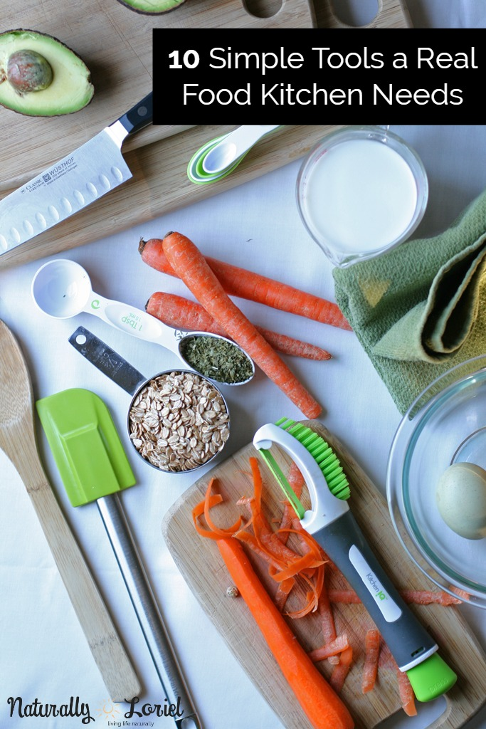 Putting home cooked meals on the table does not require fancy and expensive gear to do so. Here are 10 simple tools a real food kitchen needs.