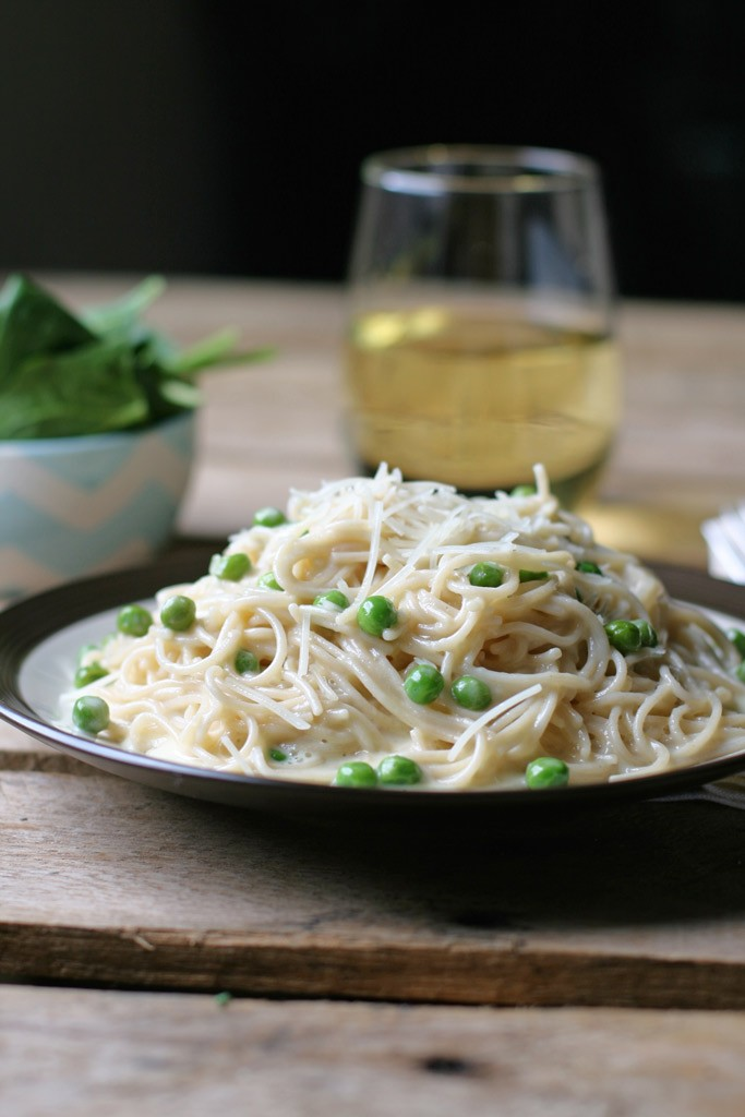 Capellini Alfredo is Fettucini Alfredo's long lost cousin; the sauce doesn't require flour and it's thickened with lemon juice that really amps up the flavor.
