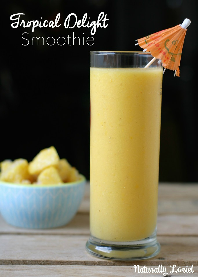 Dreaming of sandy beaches, cabana boys, and fruity drinks? This tropical delight smoothie will transport you into tropical dream land. Serve virgin or add rum!