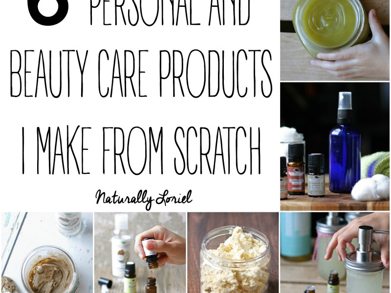 I don't make my own cleaning products from scratch but I want to share with you the 6 personal & beauty care products I've found worth making from scratch.