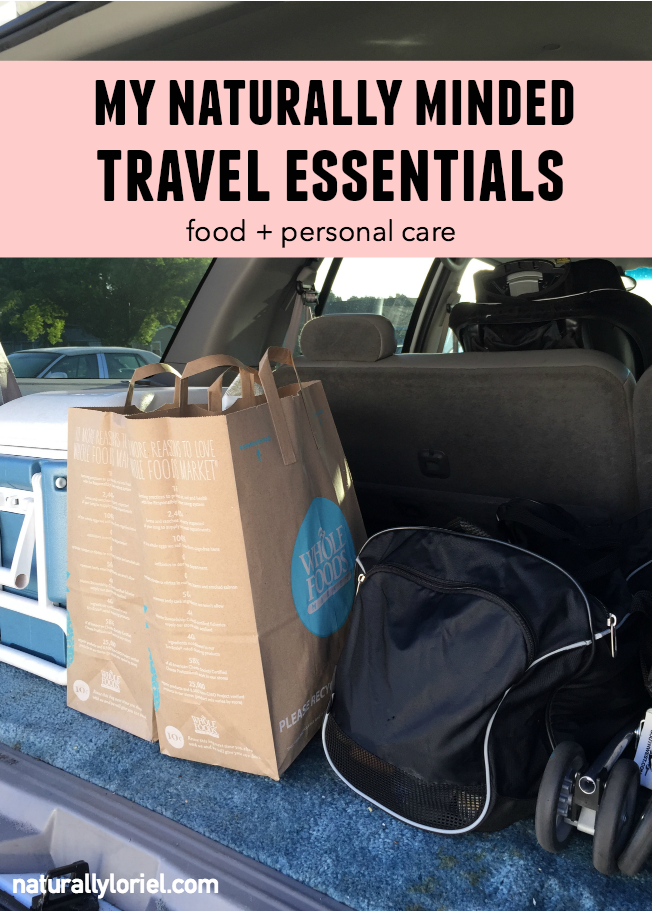 A vacation is a vacation so I don't tend to obsess over bringing every little crunchy thing. I do however have a few naturally minded travel essentials I make sure to take.