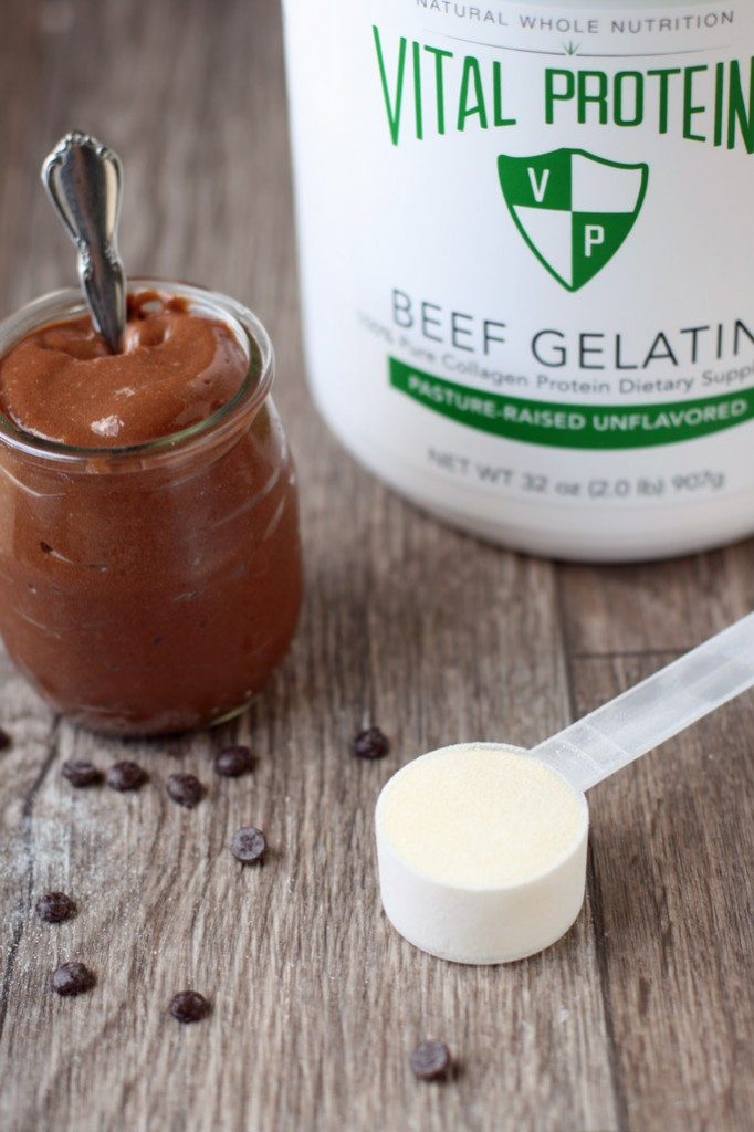 Wholesome ingredients like gelatin, maple syrup, coconut milk, whole milk, and unrefined salt make this homemade healthy chocolate pudding a guilt-free treat.