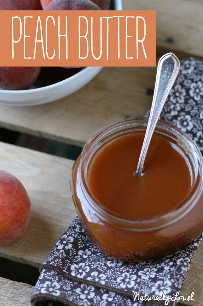 Making peach butter is a great way of using up a lot of peaches at one time -- especially towards the end of the season so you can enjoy them through the off-season.