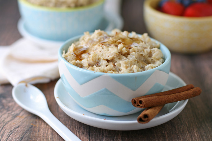 This stove-top cinnamon maple oatmeal is easy to make, delicious, and makes me feel reminiscent of the microwavable oatmeal I used to eat as a kid.