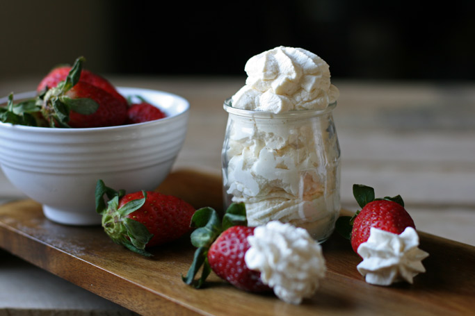 Made with real organic whipping cream and mineral-rich maple syrup, this homemade whipped cream will knock your socks off and can be made in under 5 mins.