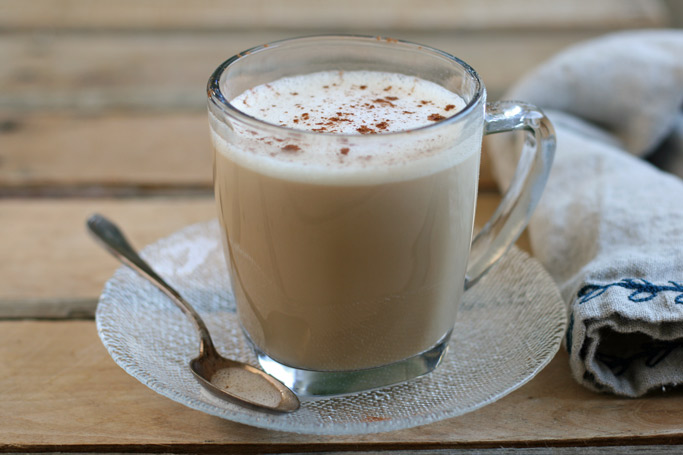 Made with only five real food ingredients, this dairy-free chai tea latte will warm you up with it's perfectly balanced ratio of chai to coconut milk.