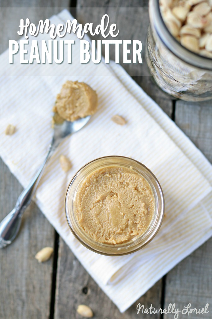 Make peanut butter and jelly sandwiches a little more healthy by making homemade peanut butter free of preservatives, HFCS, and more!