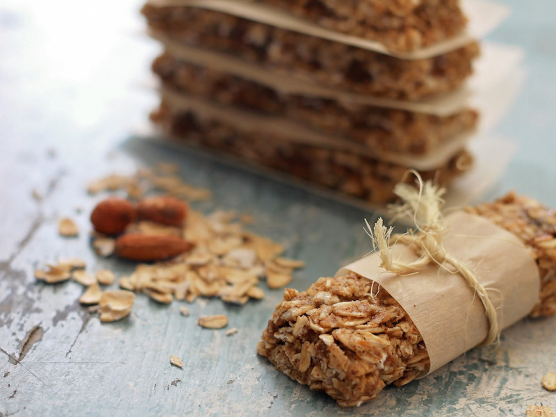 no bake granola bars horizontal