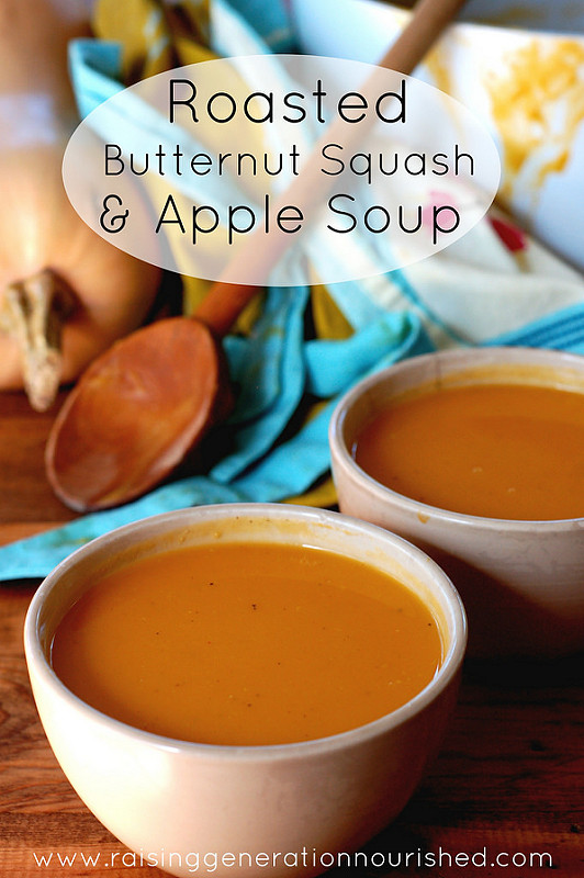 how to use butternut squash - squash and apple soup