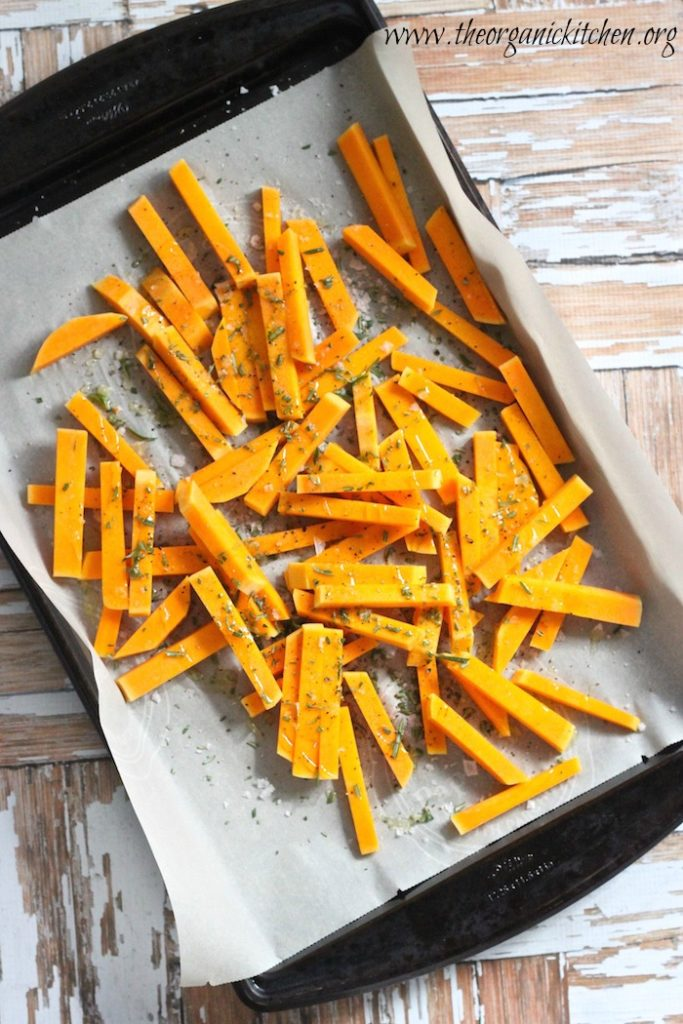 how to use butternut squash - squash fries