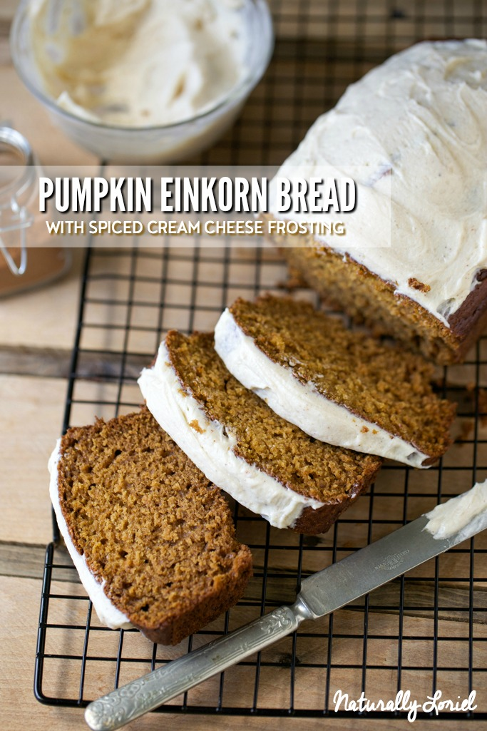 pumpkin einkorn bread is moist, fluffy, and perfectly spiced!