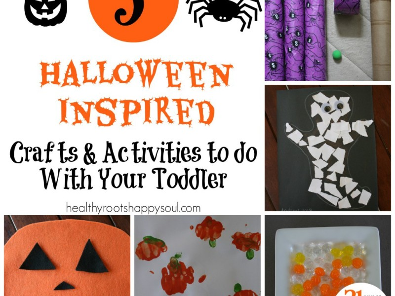 Halloween inspired crafts that are easy and simple enough for toddlers to enjoy!