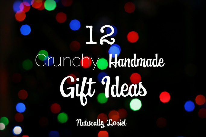 "Wondering what makes these gifts ""crunchy?"" Think handmade gifts like kombucha, peppermint hand soap, vanilla coconut sugar, seasoning ornaments, and more!"