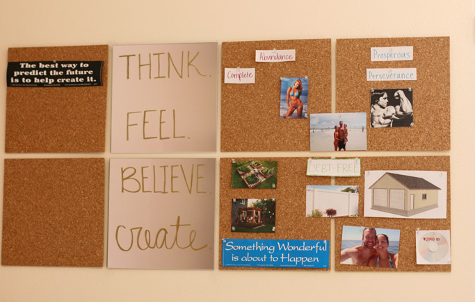 Make an impact on your life and the things you want to achieve by creating a DIY dream board so you can visually be reminded daily of the things you want.